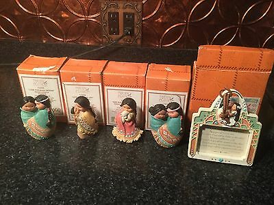 Junk Drawer Lot 59 Friends Of The Feather With Boxes 4 Figures 1 Photo Frame