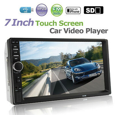 "7"" Double 2DIN Car Audio MP5  Player Bluetooth Touch Screen Stereo Radio HD New"
