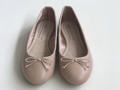 Brand new Marks and Spencer Leather Ballerina Shoes Ballet Flats Current Season