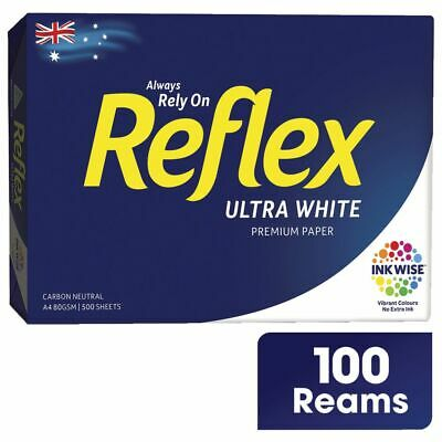 Reflex Ultra A4 Paper White 500 Sheet (100 Reams) x 100