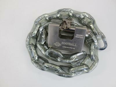 8mm Security Chain - two meter long in plastic sleeve with compatible Padlock
