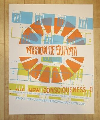 2005 Mission of Burma - Austin Silkscreen Concert Poster s/n by Red Cabin