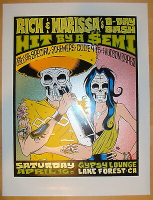 2005 Hit By A Semi - Silkscreen Concert Poster by Alan Forbes/Firehouse