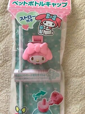 My Melody SANRIO bottle cap with straw kawaii