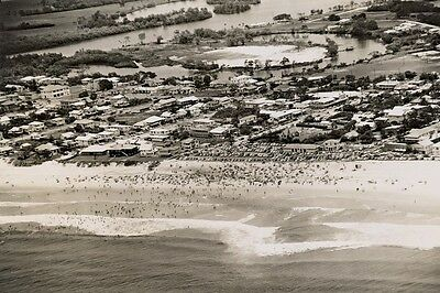 Queensland Gold Coast SURFERS PARADISE Aerial 1952 Modern Digital Photo Postcard