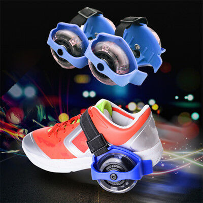 Small Swirl Flash Wheels Adjustable Roller Fire wheel Flashing 1 Pair Colorful