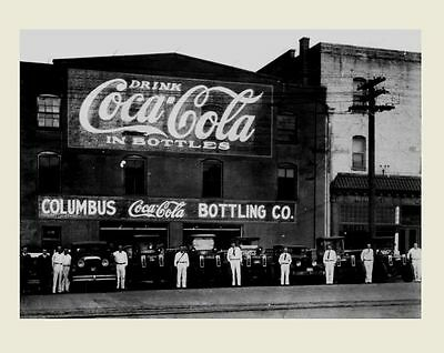 1921 Coca Cola Coke Bottling PHOTO Bottles Art Print, Georgia Delivery Trucks