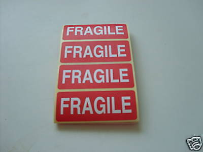 50 Self Adhesive Fragile Stickers