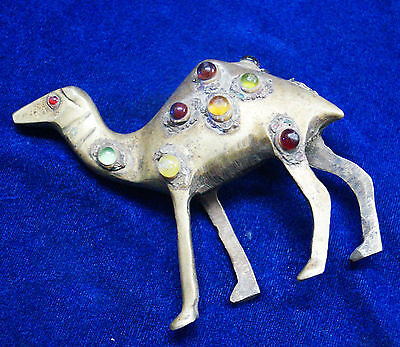 Antique Brass Stone Work Camel Statues From India Size 10 Cm