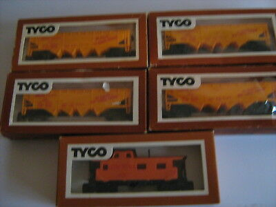 Tyco hoppers and caboose
