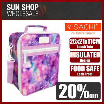 100% Genuine! SACHI Insulated Lunch Tote Cooler Bag Galaxy! RRP $39.95!