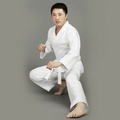 NEW Karate Uniform WHITE Martial Arts Gi - All Sizes HIGH QUALITY 8oz free belt