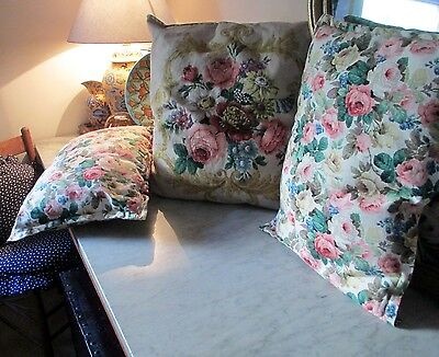 3 floral linen cushions 4 bay window or your fave chair shabby chic personified