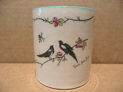 1926 Paragon China Two For Joy Magpies Princess Elizabeth Nursery Cup