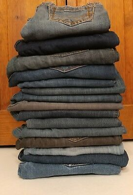 Lot Of Womens Jeans 15 Pair Wholesale Mixed Assorted Sizes And Brands For Resale