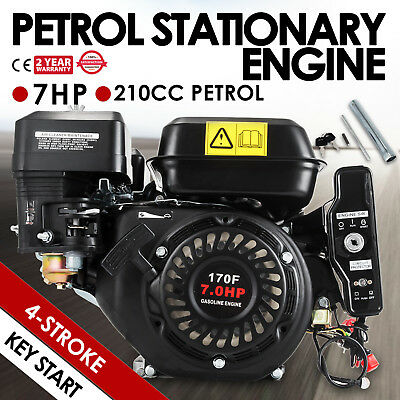 7HP Petrol Engine OHV Stationary Motor 4-Stroke Horizontal Shaft Replacement