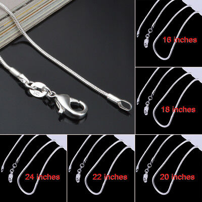 925 Sterling Silver 2MM Classic Snake Necklace Chain Wholesale Bulk Price