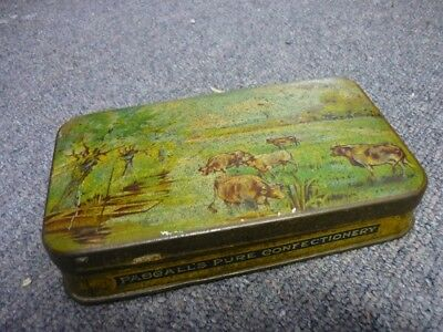Vintage Pascall's Pure Confectionery Tin, Cows in paddock pictured lid 1910's?