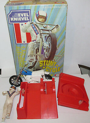 Boxed Evel Knievel Stunt Cycle By Ideal - ONLY GOOD FOR SPARES OR REPAIR