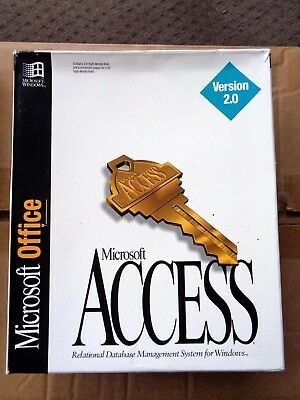 Microsoft Access 2.0 for Windows - The Last One - 8 disks + manuals