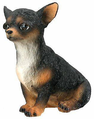 Chihuahua Puppy / Dog Black - Collectible Figurine Statue Sculpture