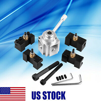 Aluminum Alloy Quick Change Tool Post Mini Lathe Tool Post and Holder Kit