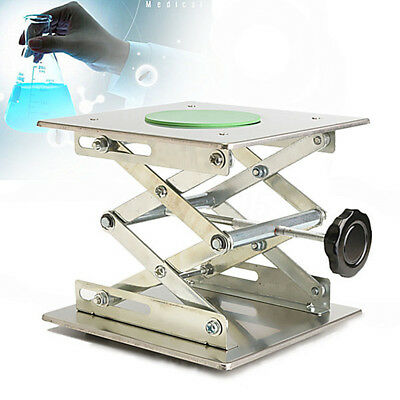 20x20cm Countertop Stainless Steel Lifts Laboratory Jack Lab Stand Instrument