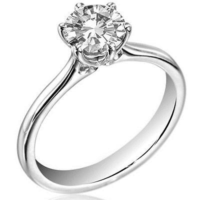1.5ct Diamond Solitaire Platinum (950) Engagement Ring UK Hallmarked (DU124)