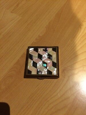 1960's Powder Compact. Mother Of Pearl