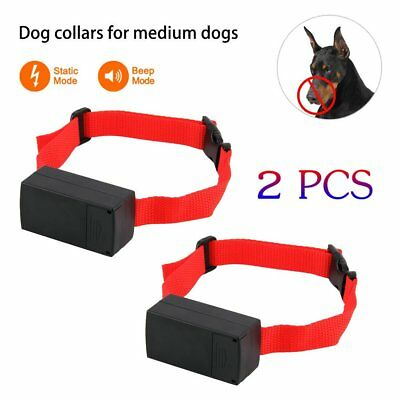 2X Electric Anti Bark No Barking Tone Shock Training Collar for Medium/Large Dog