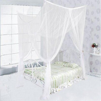 4 Corners Bed Net Canopy Mosquito Net Summer For Double Bed Full Queen King Size