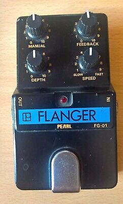 Pearl Flanger FG-01 Vintage Analog Pedal Made in Japan MIJ