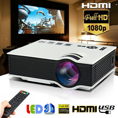 5000lumens LED Projector Multimedia Home Cinema Theater 1080P HD HDMI USB Video