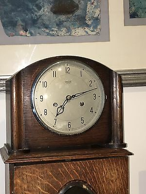 Smiths Enfield Oak Art-Deco Mantle Clock