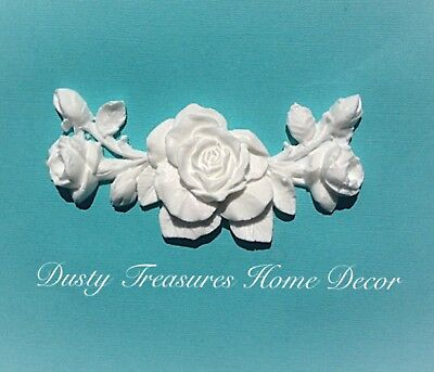 Shabby Chic Rose French Furniture Moulding Furniture Applique Carving Onlay