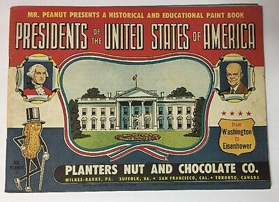 Planters Peanuts Presidents of the United States Paint Book