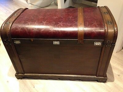 Wooden Ornate Storage Chest/Trunk Large