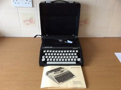 Black Silverette Silver-Reed Typewriter In Full Working Order Excellent Co