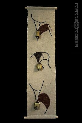 """RUPESTRIAN ANIMALS ""   arazzo-tapestry fiber-art"