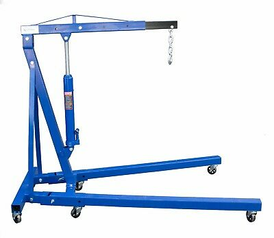 0.5 Tonne Hydraulic Lifting Folding Engine Floor Crane Hoist Stand With Wheels