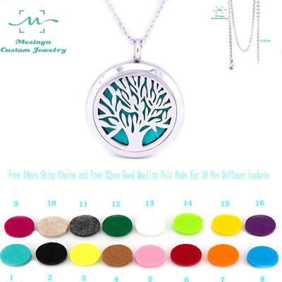 10pcs Mesinya Tree of Life Aromatherapy/Essential Oils Necklace