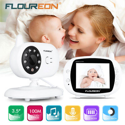 "3.5"" Wireless Digital HD LCD 2.4G Baby Monitor Camera Night Vision Audio Video"