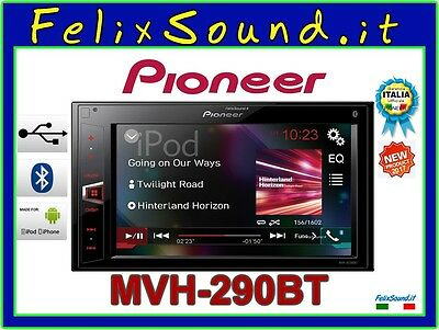 Pioneer Mvh-Av290Bt Autoradio 2Din Bluetooth Iphone Aux In Usb