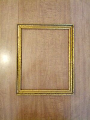 """Antique Gold Gesso Wood Picture Frame 11"""" X 14"""""""