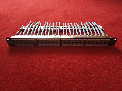 Excel Cat6a patch panel with 24 Excel Cat6a screened snap in toolless jacks