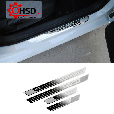Stainless Steel Door Sill Scuff Plate Guards For Volkswagen Golf 7 MK7 2012-2017