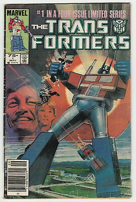 Transformers #1 NEWSSTAND Limited Series 1984 1st Print & Appearance Good