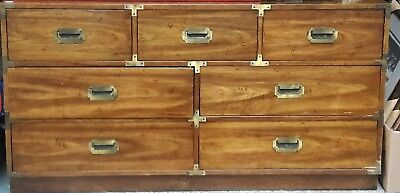 "Campaign style dresser 56"" wide 18"" deep 29.5"" high *****LOCAL PICK UP ONLY*****"