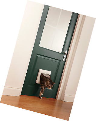 Petsafe Cat Flap Door Flexible Manual 4-Way Locking Tunnel For Young Adult Pet