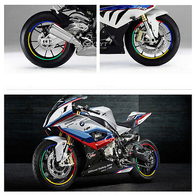 Motorcycle Car 17'' 18'' Wheel Tire Sticker Decal Styling Strips ...
